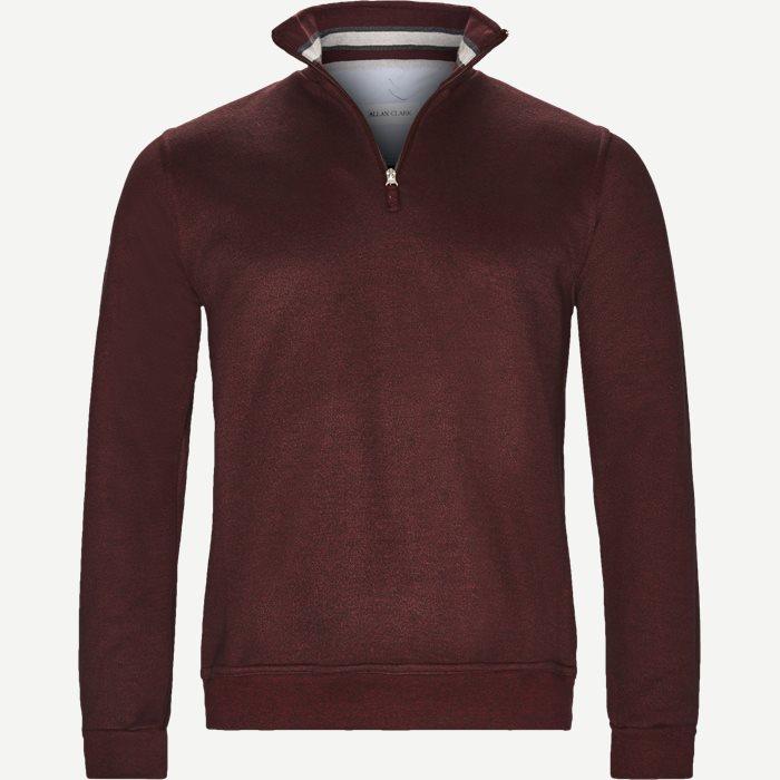 Half Zip Sweatshirt - Sweatshirts - Regular - Bordeaux